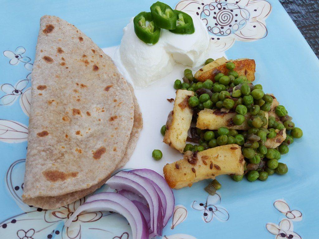 Paneer and Peas