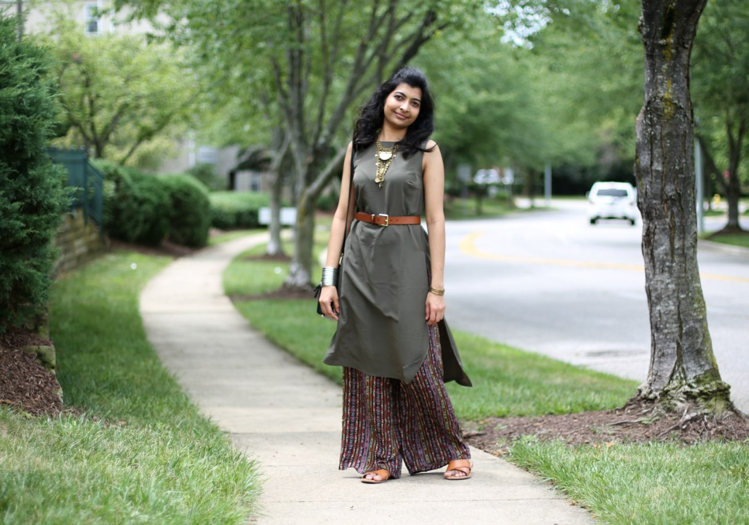 Indian fusion look