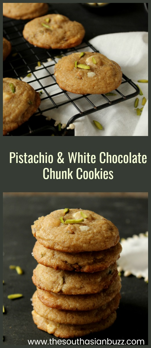 Pistachio and White Chocolate Chunk Cookies