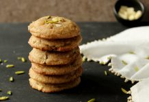 Pistachio & White Chocolate Chunk Cookies