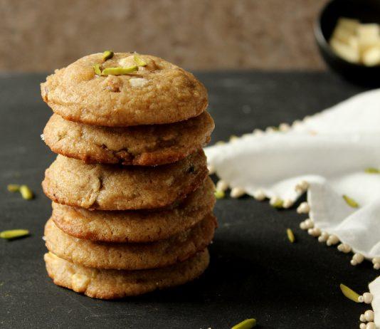 Pistachio & White Chocolate Chunk Cookies
